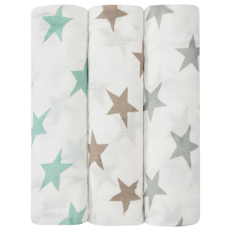 Aden + Anais 3-Pack Swaddles Milky Way One Size