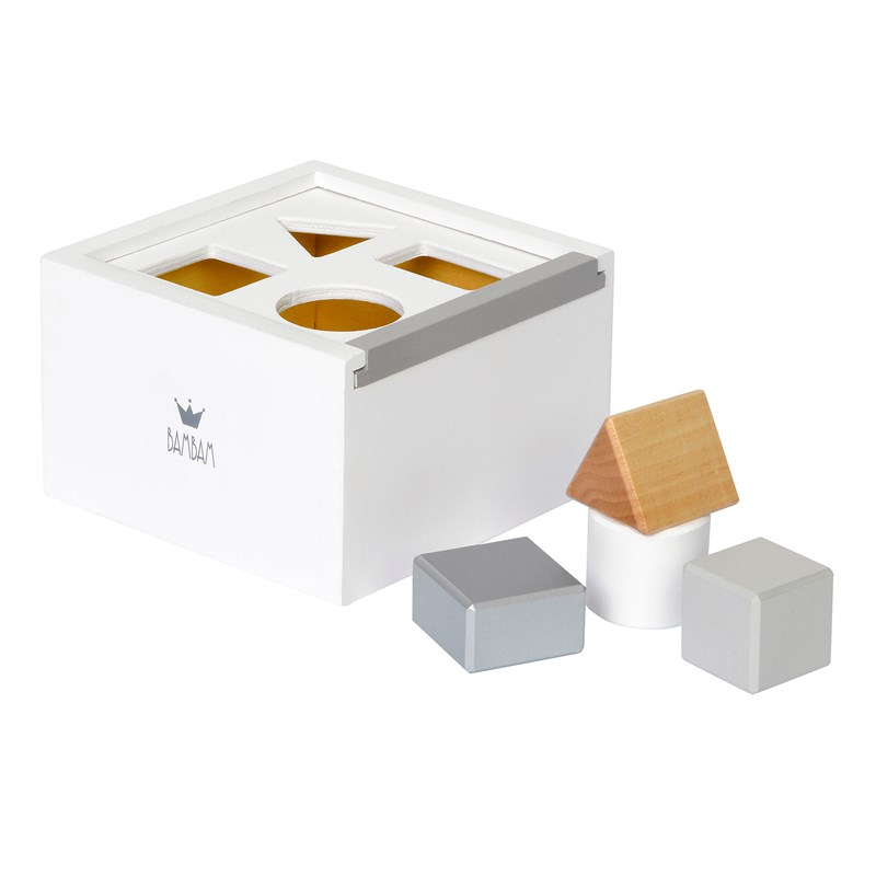 BamBam Wood Block Box Klossar Vit One Size