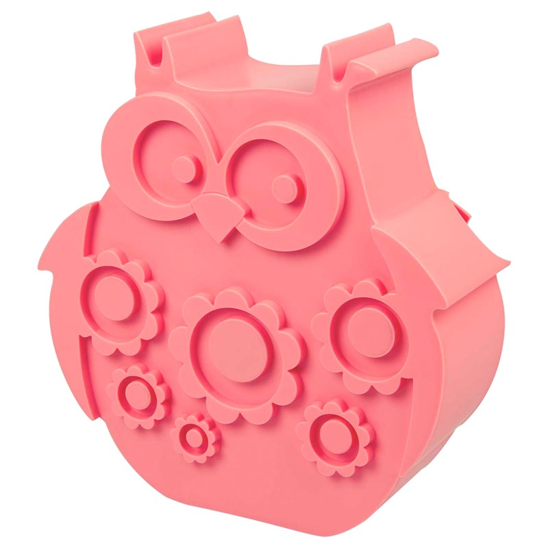 Blafre Owl Lunch Box med 2 fack Rosa One Size