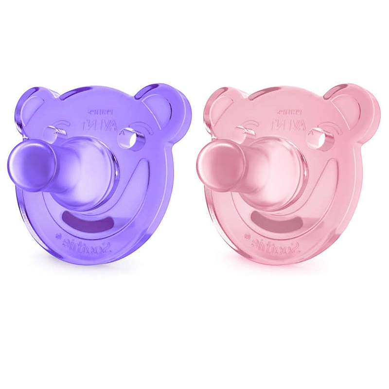 Philips AventSoothie Shapes Nappar, 2-pack 0-3m Rosa/Lila