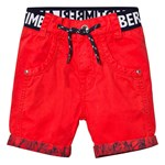 Timberland Branded Cotton Turn Up Shorts Röd