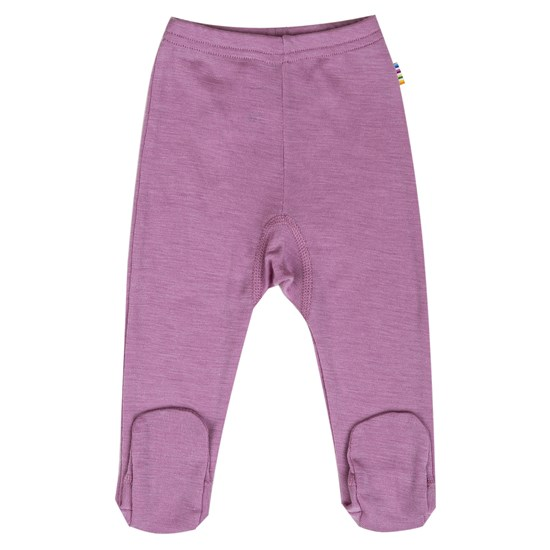 Joha Leggings w/foot Wool/Silk Arctic solid pink