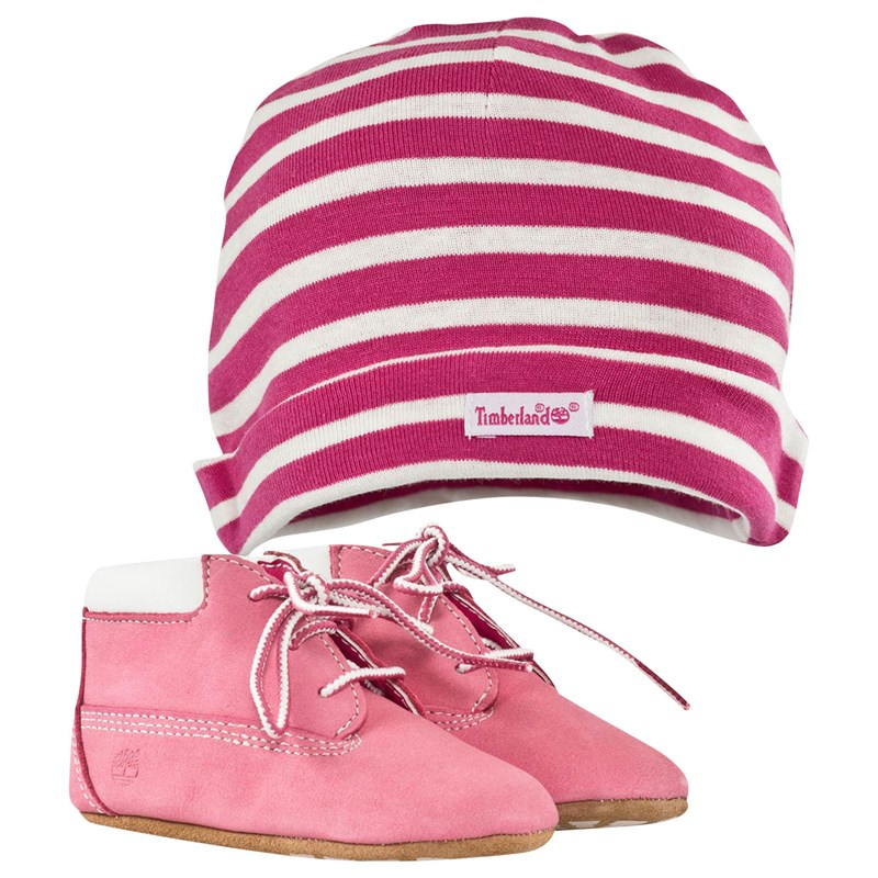 Timberland Crib Bootie With Hat Pink 16 (US 1)