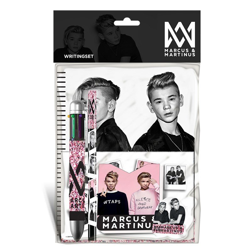 Marcus & Martinus Marcus & Martinus Writing set – with spiral pad A5 w/60 ruled sheets 4 – 13 years