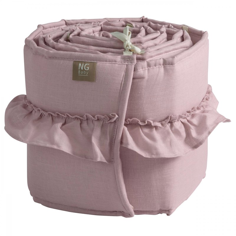 NG Baby Spjälskydd Mood Ruffles rose One Size