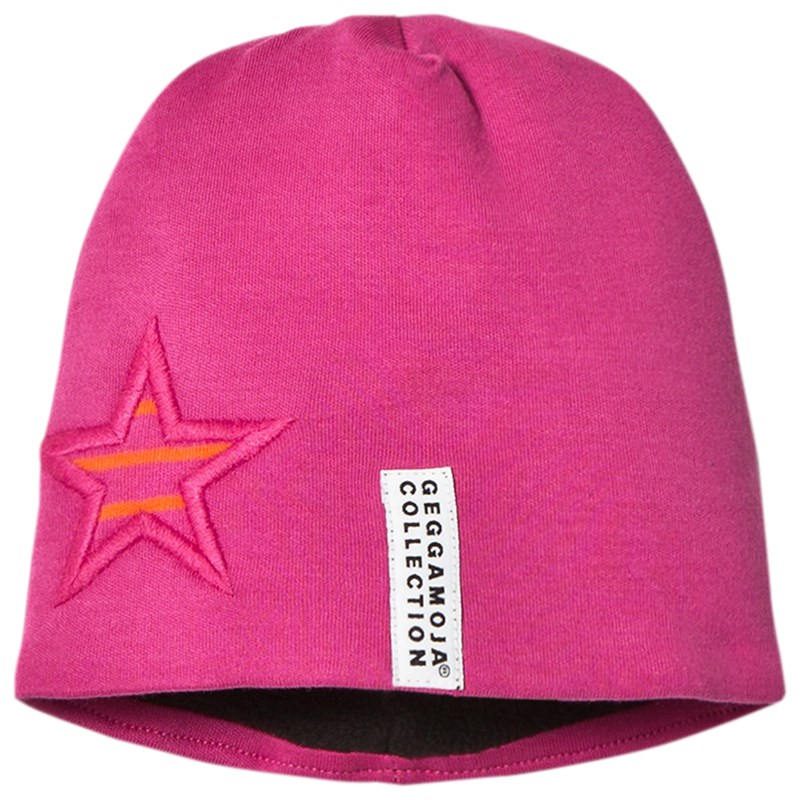 Geggamoja Star Cap Fleece Cerise Mini (0-2 mån)