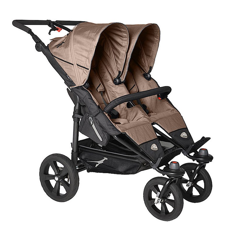 TFK Twin Trail Tvillingvagn Fossil One Size