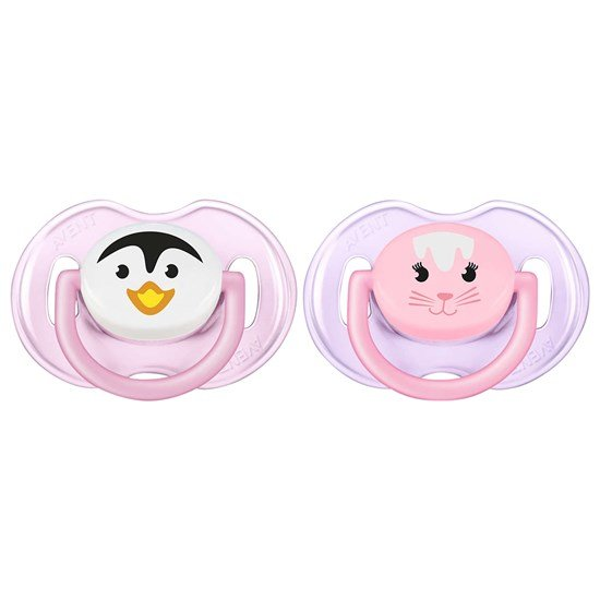 Philips Avent Philips Avent, Napp, Animal, 0-6 mån, 2-pack, Pink