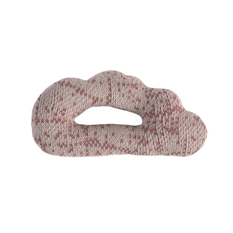 sebraKnitted Rattle Cloud Vintage rose