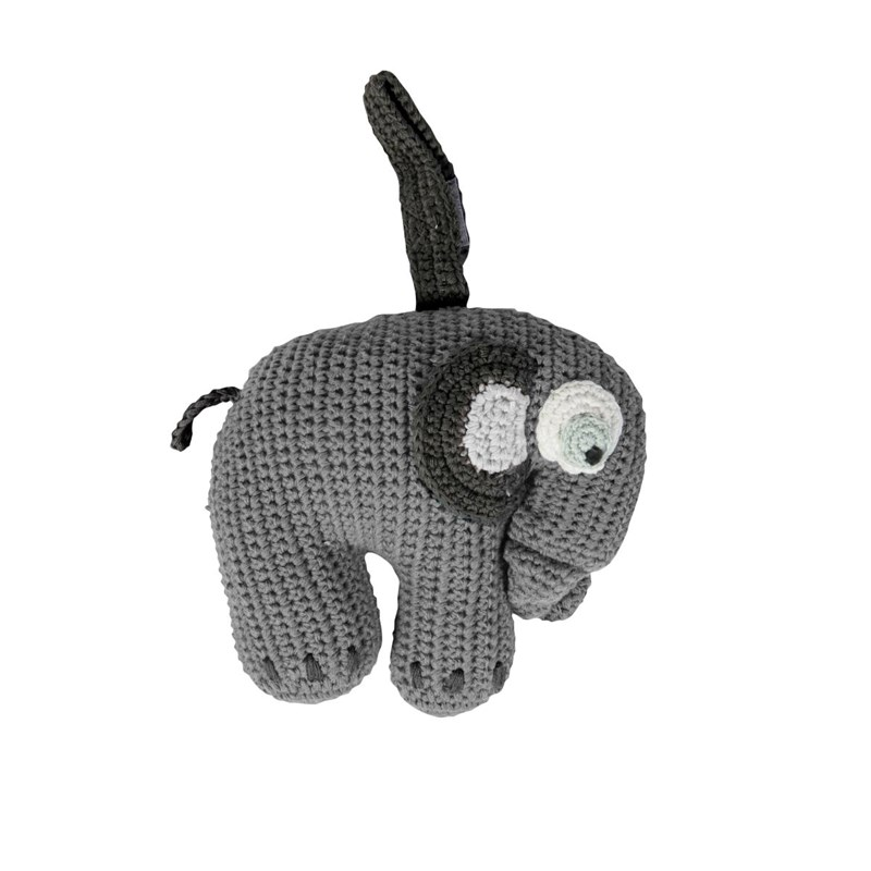 sebra Crochet Music Mobile Elephant Grey One Size