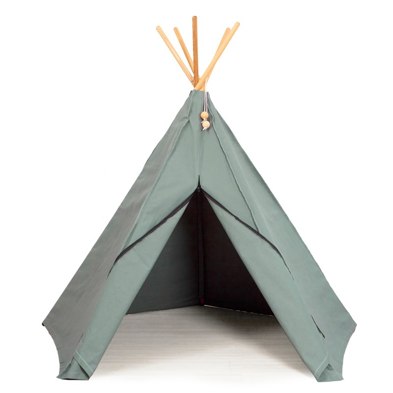 Roommate Hippi Tipi Lektält Sea Grey One Size