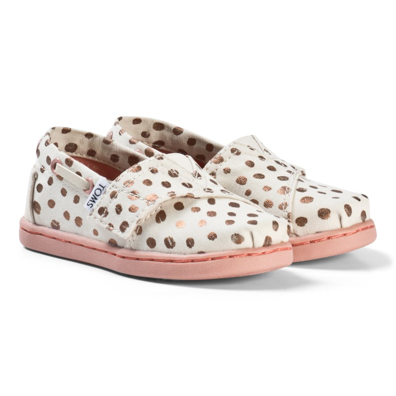 Toms Pink Espadrilles with Rose Gold Dots and Pink Sole 21 (UK 4)