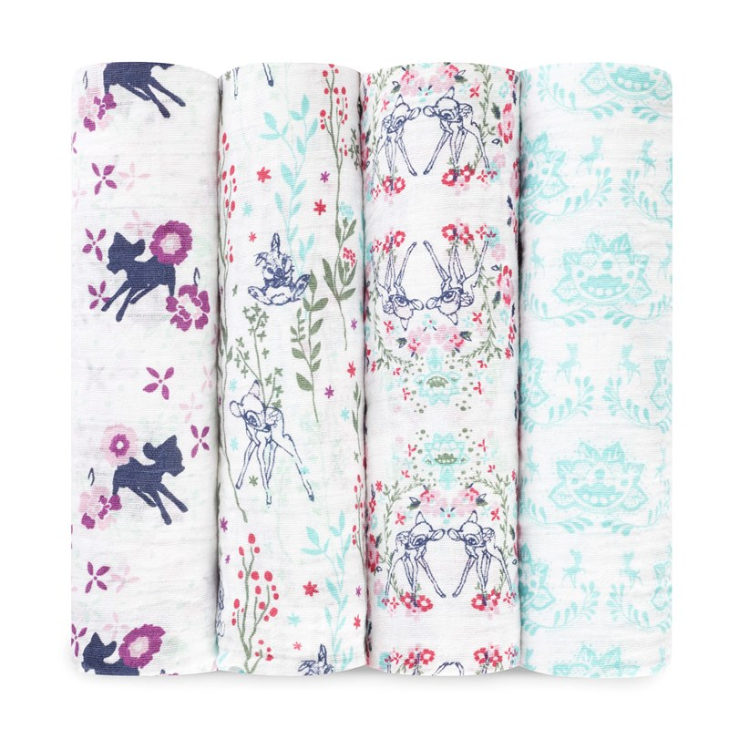 Aden + Anais 4-Pack Swaddles Bambi One Size