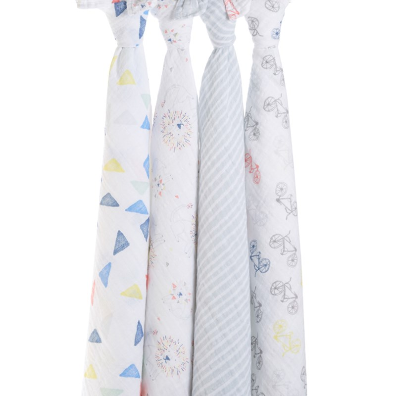 Aden + Anais 4-Pack Swaddles Leader Of The Pack One Size