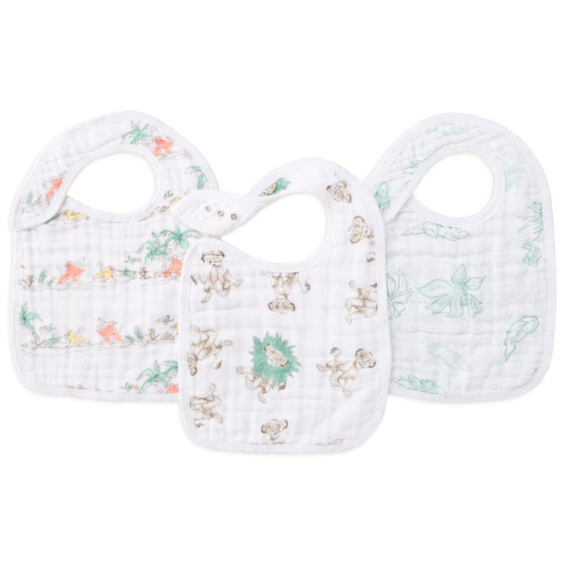 Aden + Anais Classic Snap Bib Haklapp 3-Pack The Lion King One Size