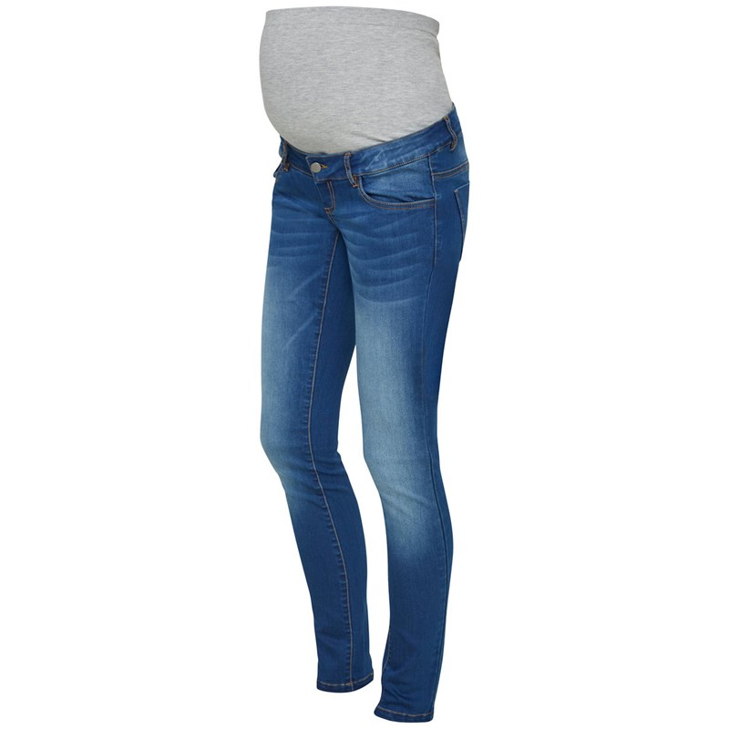 Mamalicious Slim Jeans Medium Blue Denim 29