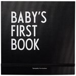 Design Letters Baby´s first book Svart