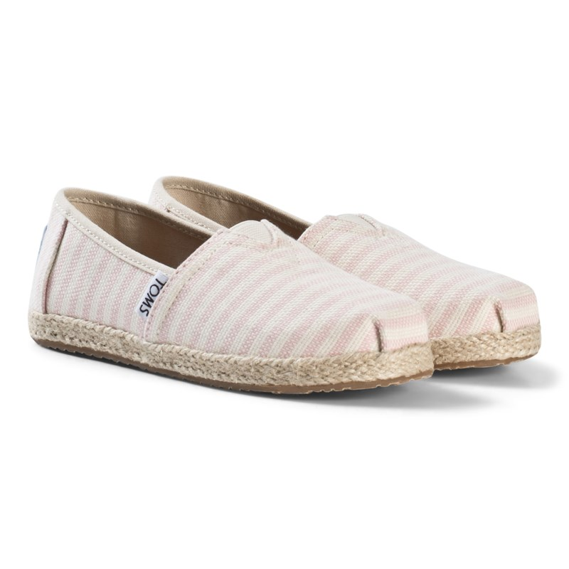Toms Stripe Woven Espadrilles with Rope Sole 32.5 (UK 13)