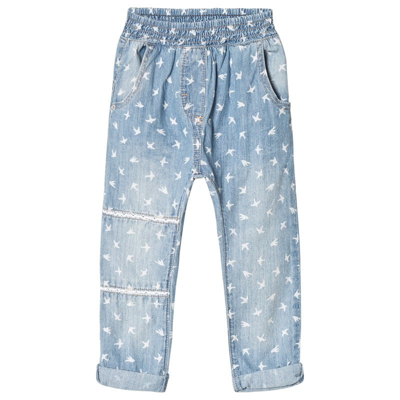 Hust&Claire Trousers Washed denim 104 cm (3-4 år)