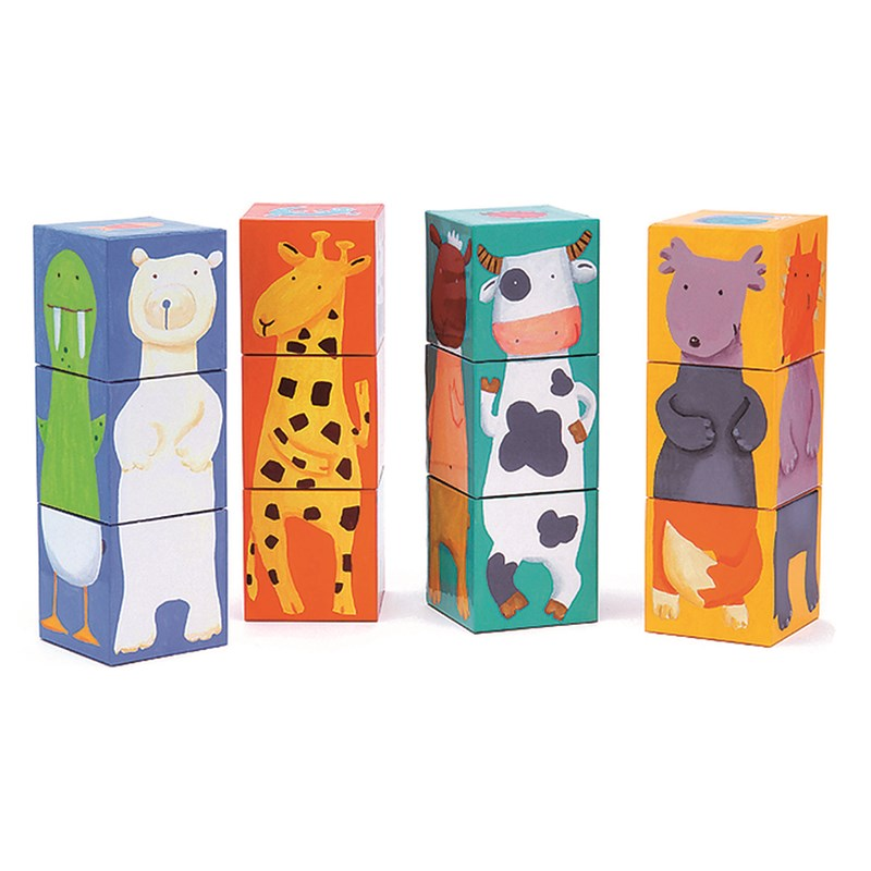 Djeco Funny Color Cubes One Size