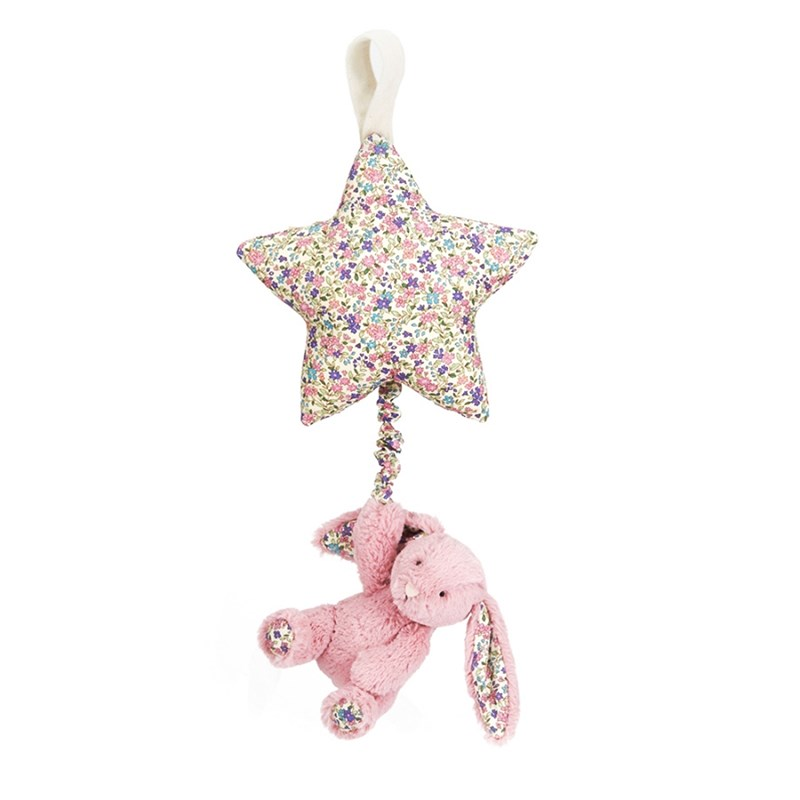 Jellycat Blossom Tulip Bunny Star Musical Pull One Size