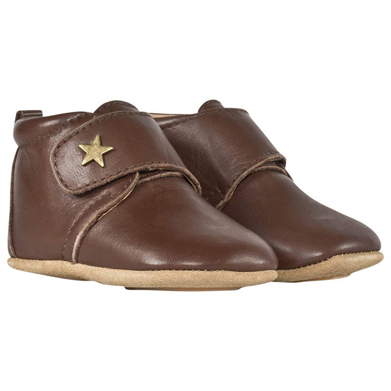 Bisgaard Velcro Shoe Star Brown 19 EU