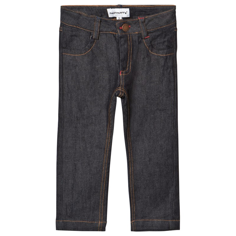 Maxomorra Denim Dark Byxor Denim Blue 98/104 cm
