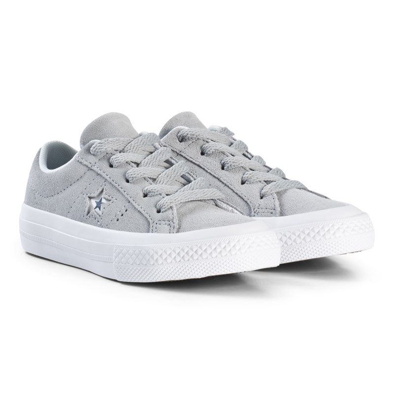 Converse Grey One Star OX Junior Trainers 34 (UK 2)