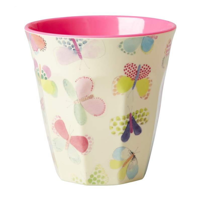 Rice Melamine Mugg Butterfly Print One Size
