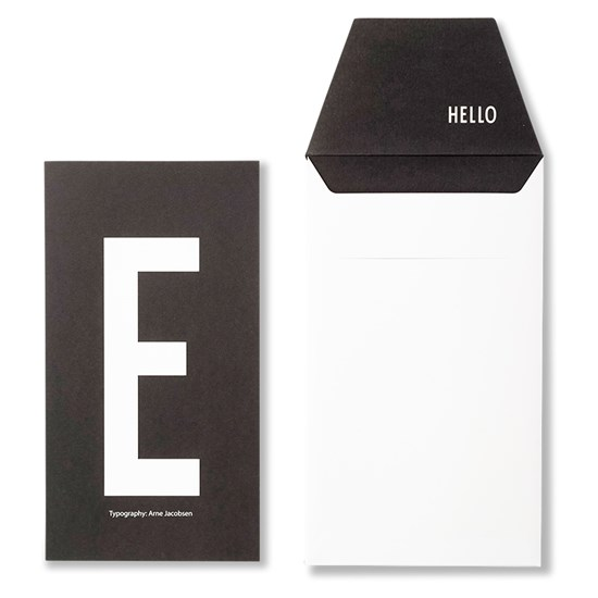 Design Letters AJ Greeting Card E