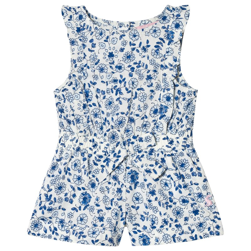 Joules Frill Jumpsuit Blue Ditsy Floral 5 years