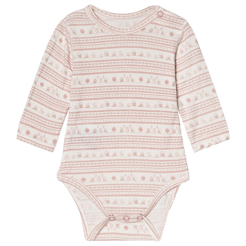 Hust&Claire Baby Body Dusty rose 68 cm (4-6 mån)