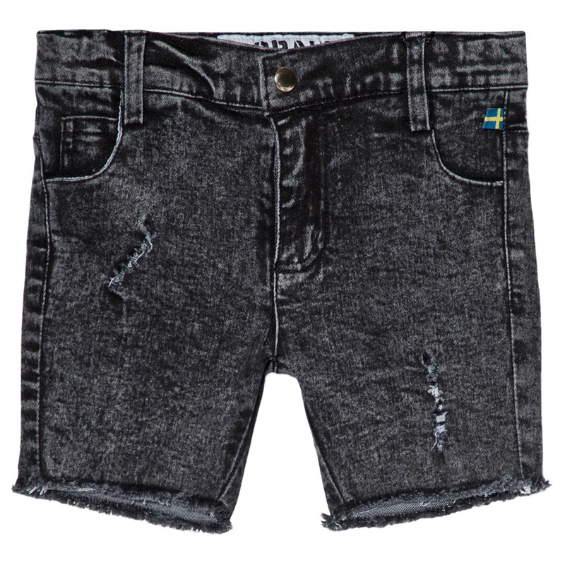 The BRAND Stone Wash Shorts Distressed Grey 104/110 cm