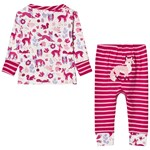 Hatley Forest Animal Pyjamas Cream
