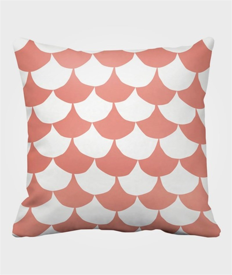 Littlephant Pillow Big Waves White/Coral OneSize