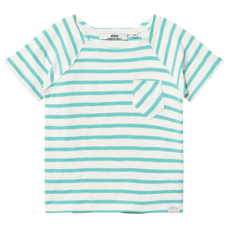 ebbe Kids Lanzo T-shirt Off-white/Blue turquoise 116 cm