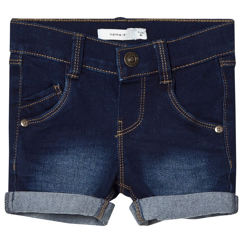 Name It Sofus Shorts Dark Blue Denim 80 cm (9-12 mån)