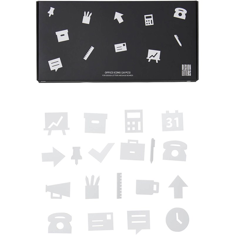 Design Letters Office Icons för anslagstavla 20 Pack One Size