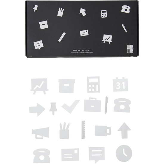 Design Letters Office Icons för anslagstavla 20 Pack