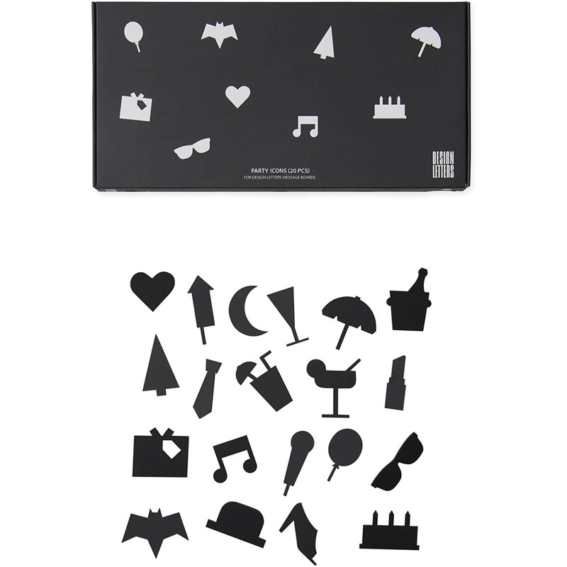 Design Letters Party Icons för anslagstavla 20 Pack One Size