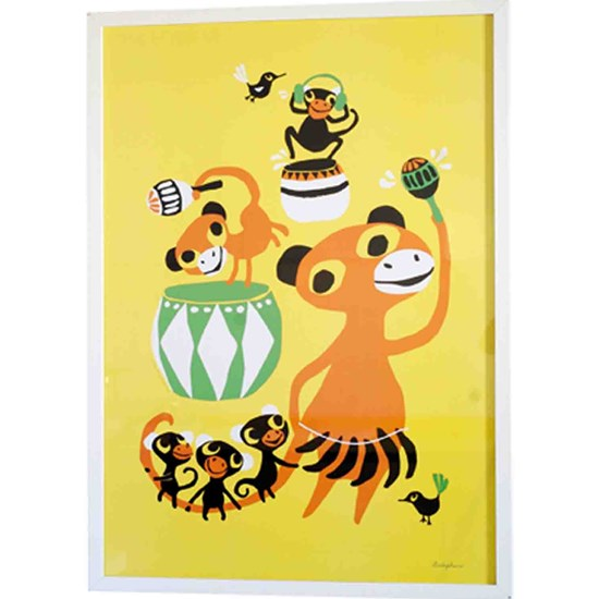 Littlephant Graphic print Affisch Bongo party