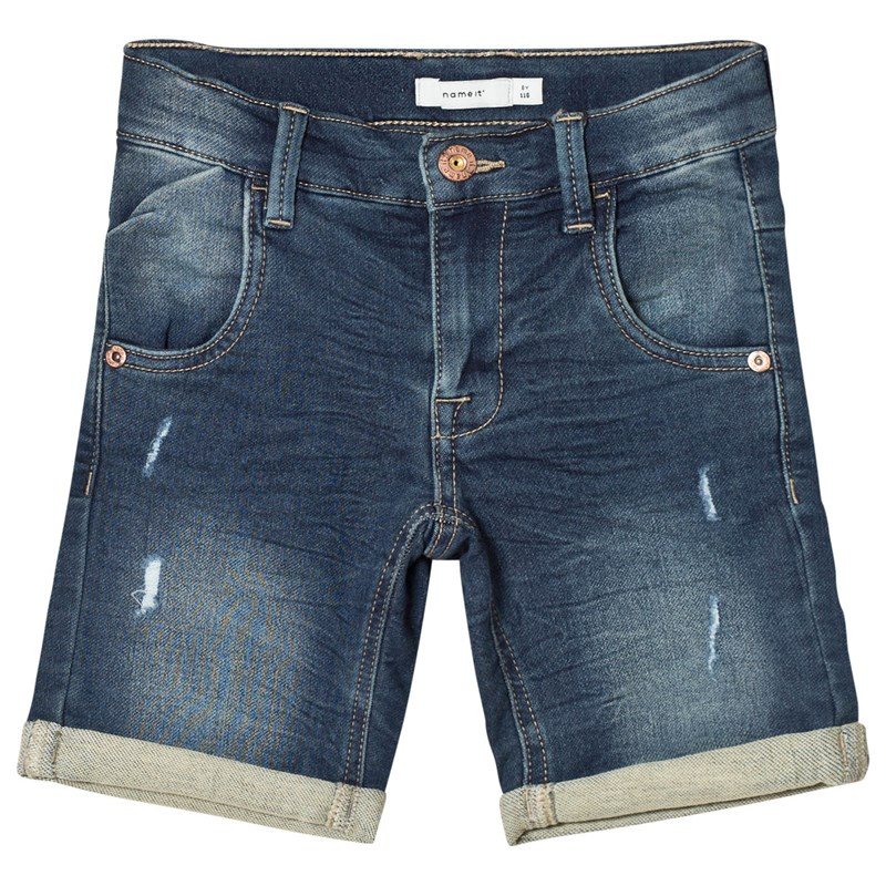 Name It Sofus Long Shorts Dark Blue Denim 116 cm