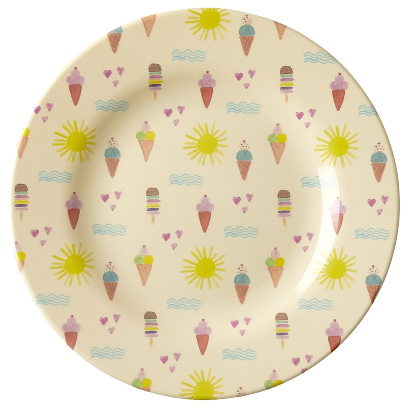Rice Melamin Side Plate with Summer Print