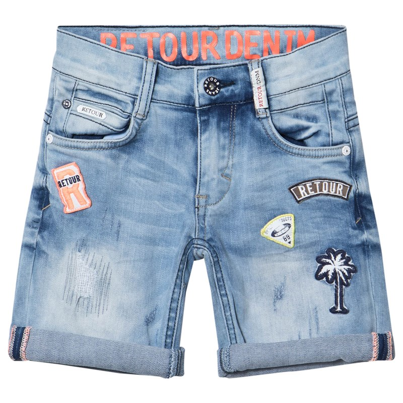Retour Rob Shorts Medium Blue Denim 12 år