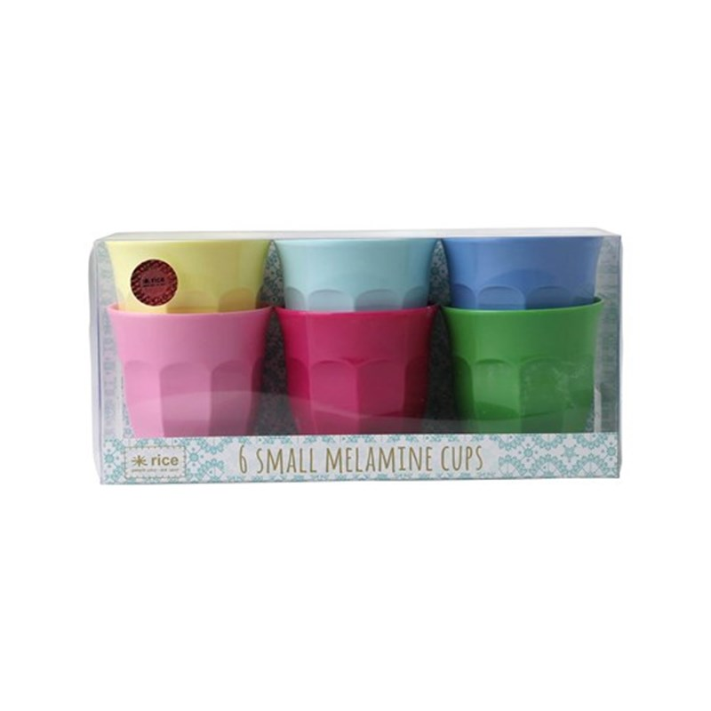 Rice 6-Pack Liten Melamin Mugg Classic Colors One Size