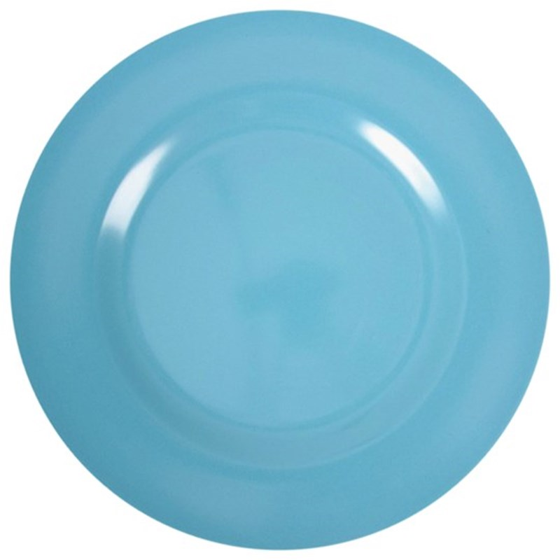 Rice Melamine Round Side Plate Turquoise One Size