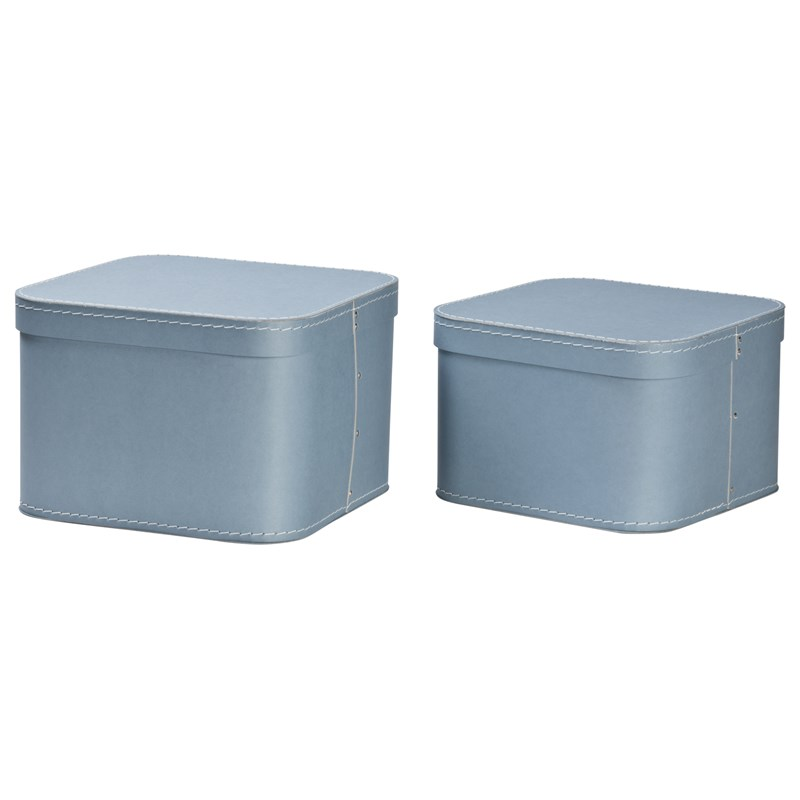 Bigso Box of Sweden Ludvig Nested Boxes 2-pack Dusty Blue One Size