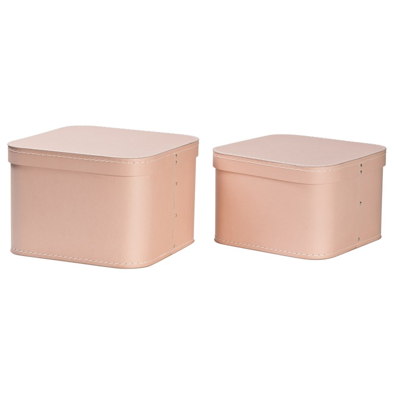 Bigso Box of Sweden Ludvig Nested Boxes 2-pack Dusty Pink One Size