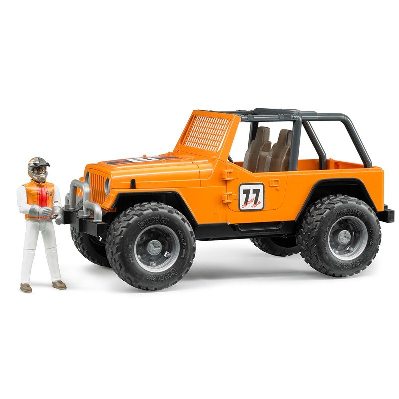 BruderJeep Cross Country racer orange med Förare