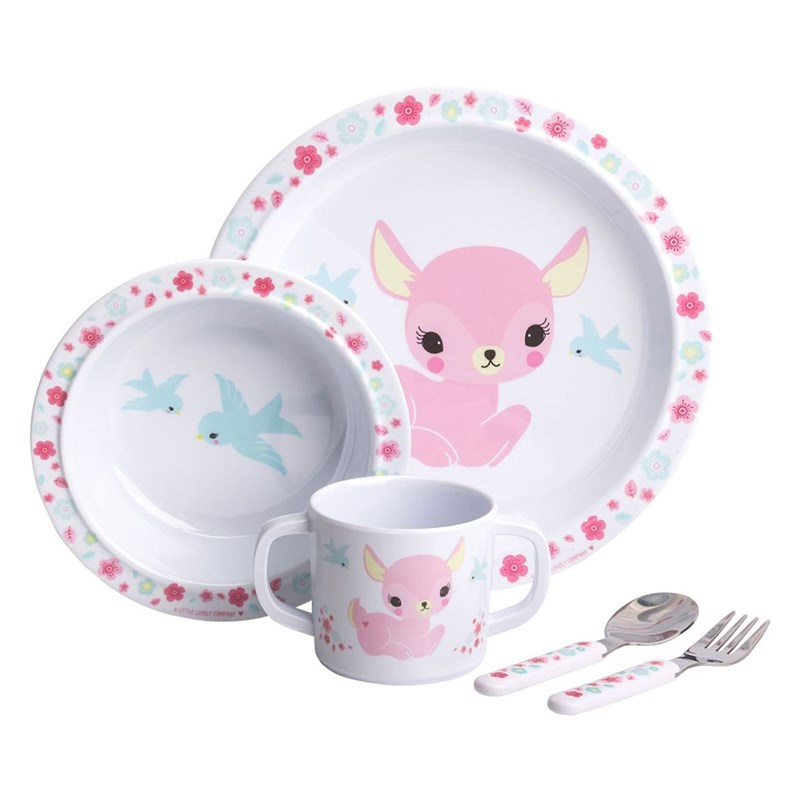 A Little Lovely Company Middags Set Hjort One Size